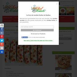 Recette facile de bateaux de pizza aux zucchinis!
