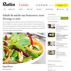 Recette de salade de mâche, betterave, carotte et orange