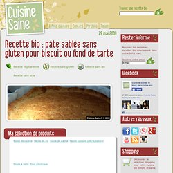 pâte sablée sans gluten pour biscuit ou fond de tarte