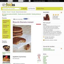 Recette de Biscuits Granola maison