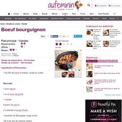 Recette Boeuf bourguignon, notre recette Boeuf bourguignon