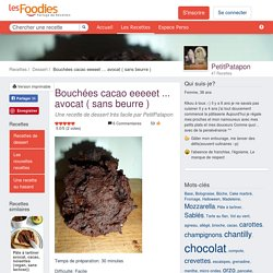 Recette de Bouchées cacao eeeeet ... avocat ( sans beurre )