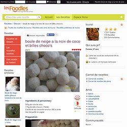 Recette de boule de neige a la noix de coco et billes choco's