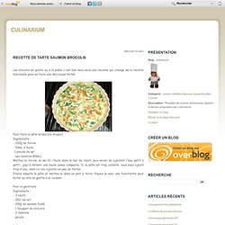 Recette de tarte saumon brocolis
