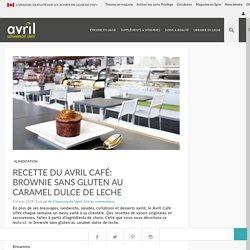 Recette du Avril Café: brownie sans gluten au caramel dulce de leche