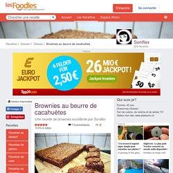Recette de Brownies au beurre de cacahuètes