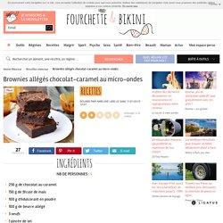 Recette de Brownies allégés chocolat-caramel au micro-ondes
