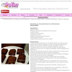 Recette des brownies au chocolat et noix