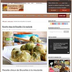 Recette choux de Bruxelles a la moutarde