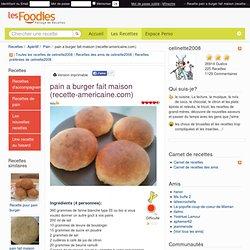 Recette de pain a burger fait maison (recette-americaine.com)