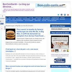 Recette burger, le Big Mac de chez Mc Donald's