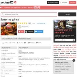 Recette Burger au quinoa (facile, rapide)