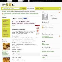 Recette de muffins aux pommes caramélisées à la cannelle
