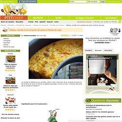 Gâteau carotte à la compote de poire et farine de soja, Recette Gâteau carotte à la compote de poire et farine de soja