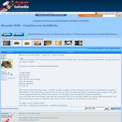 Recette WW : Carottes en tartiflette