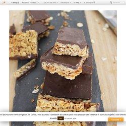 Recette de barres de céréales et de chocolat, au micro-onde