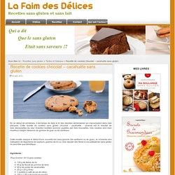 Recette de cookies chocolat - cacahuète sans gluten