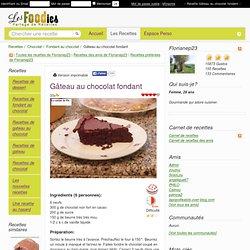 Recette de Gâteau fondant fort en chocolat