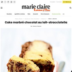 Recette Cake marbré chocolat au lait-stracciatella