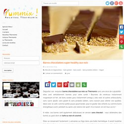 Recette de barres chocolat Thermomix super healthy