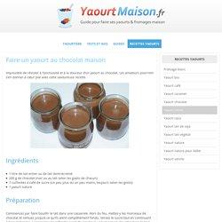 Recette yaourt au chocolat à la yaourtière