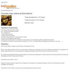Recette de Chocolate chips cookies de David lebovitz