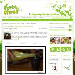Recette de la citronnade «faite-maison» : Vert-Citron