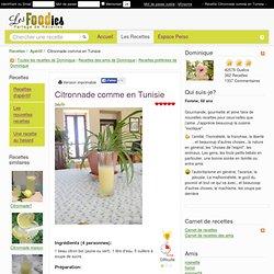 Recette de Citronnade comme en Tunisie