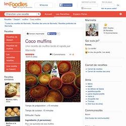 Recette de Coco muffins