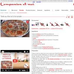 Tarte au thon et à la tomate recette companion moulinex