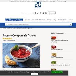 Recette Compote de fraises