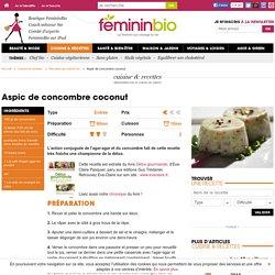 Recette Aspic de concombre coconut