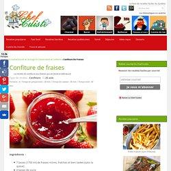 Recette de confiture de fraises toute simple et rapide à faire