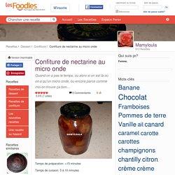 Recette de Confiture de nectarine au micro onde