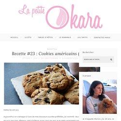 Recette #23 : Cookies américains (vegan) - La petite Okara