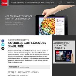 Recette: coquille Saint-Jacques simplifiée - La Presse+