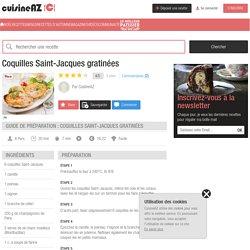 Recette Coquilles Saint-Jacques gratinées (facile, rapide)