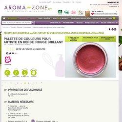 Recette : Palette de couleurs pour artiste en herbe :rouge brillant - Aroma-Zone