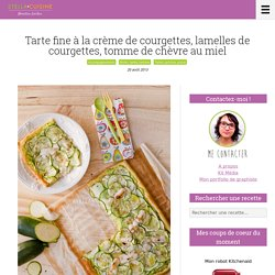 Recette De Courgette En Tarte Fine, Crème De Courgettes, Tomme De Chèvre Au Miel