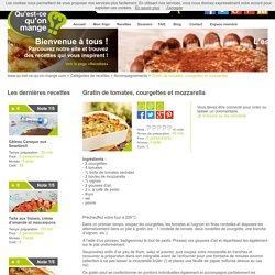 Recette de gratin tomates, courgettes, mozzarella sur Qu'est ce qu'on mange ? - qu-est-ce-qu-on-mange.com