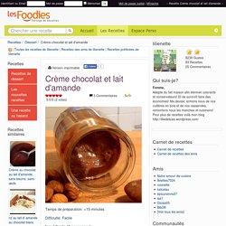 Recette de Crème chocolat et lait d'amande