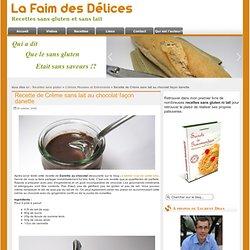 Recette de Crème sans lait au chocolat façon danette