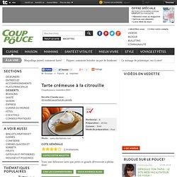 Recette Tarte crémeuse à la citrouille : Tartes sur Coup de Pouce