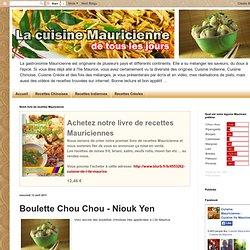 Recette de cuisine de l'ile Maurice: Boulette Chou Chou - Niouk Yen