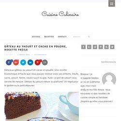 Gâteau au yaourt et cacao en poudre