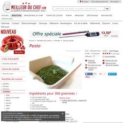 Pesto - Recette de cuisine illustrée