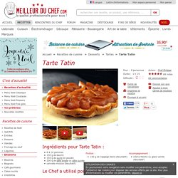 Tarte Tatin, Recette Tarte Tatin (Tartes)