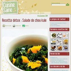 Recette détox : Salade de chou kale