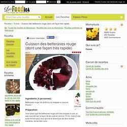 Methodes cuisine pearltrees - Conservation des betteraves rouges ...