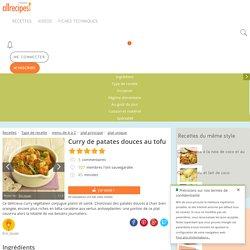 Recette Curry de patates douces au tofu